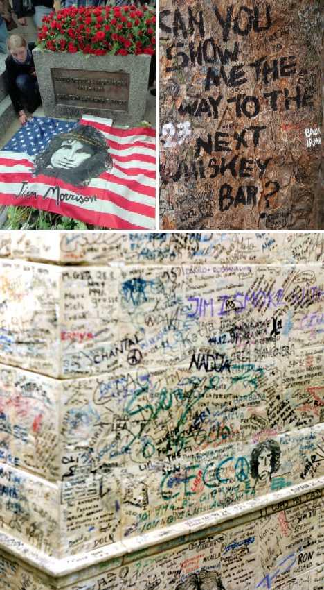 Jim Morrison's grave graffiti Paris