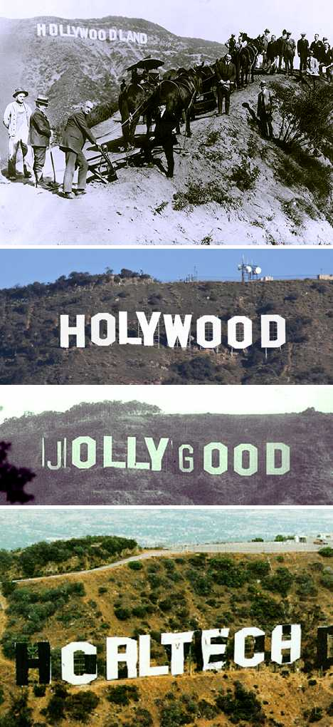 HOLLYWOOD sign vandalism