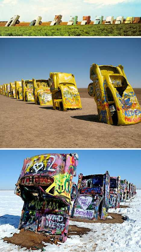 Cadillac Ranch Texas graffiti