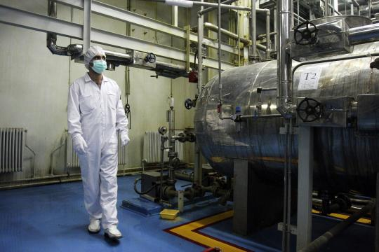Die Urananreicherungsanlage im iranischen Isfahan. Die internationale Gemeinschaft verdächtigt die Führung des Landes, heimlich an Massenvernichtungswaffen zu arbeiten