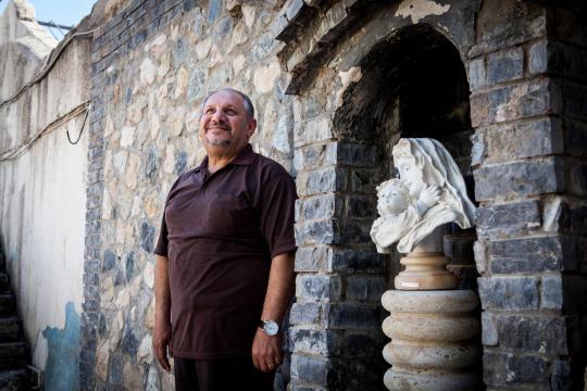Nabil Habib Moussa lebt mit seiner Frau und Kindern in dem Kloster