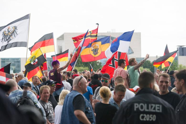 Demonstrationen zum Thema Flüchtlinge
