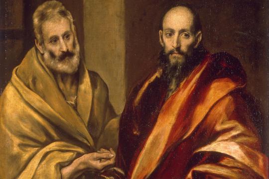 Apostelfürsten: Petrus (links) und Paulus, wie der Maler El Greco sie sah (Ölgemälde von ca. 1590)