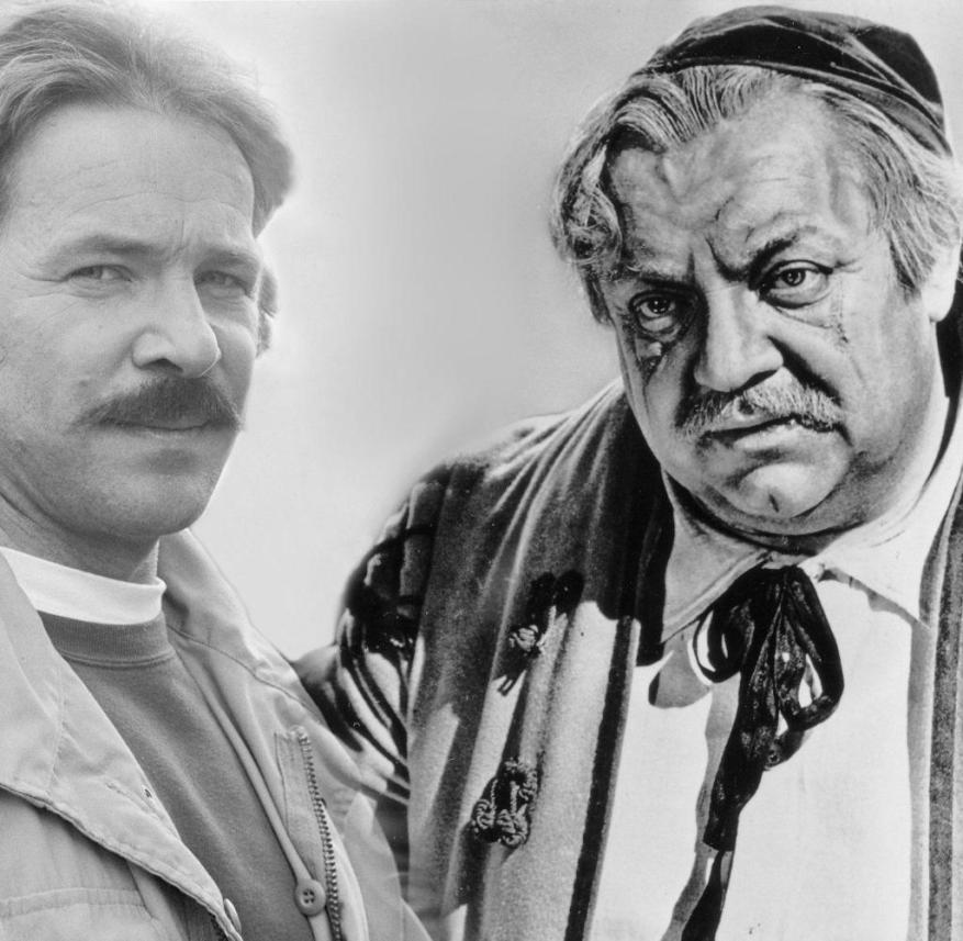 Götz George (left) and Heinrich George (photomontage) 10/12 thg photomontage: Götz George (left) in June 1984 on the verge of shooting