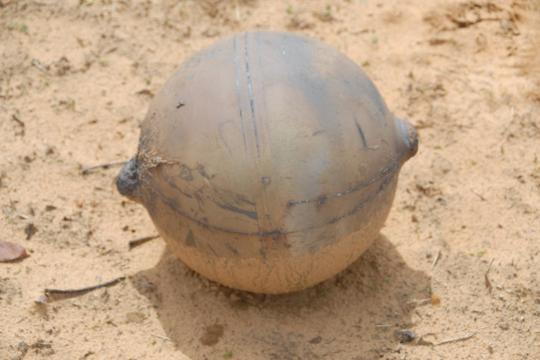 Sie sorgte für viele Spekulationen: Die in Namibia niedergegangene Metallkugel