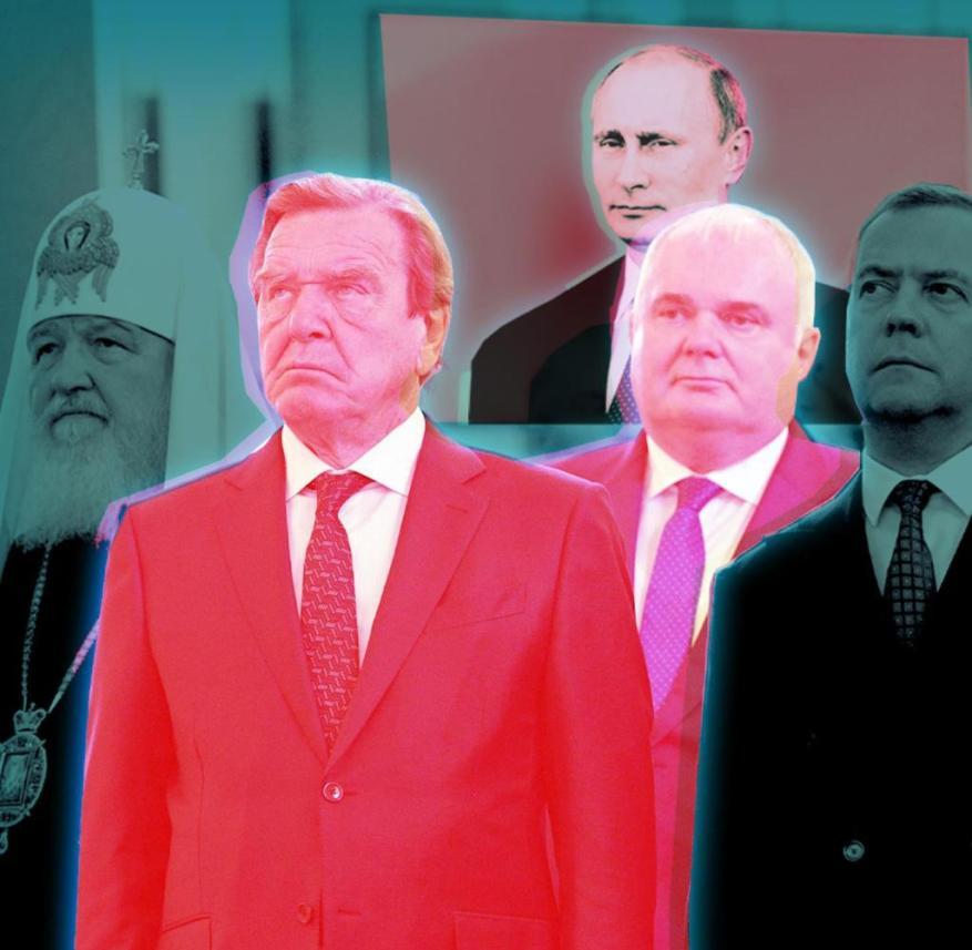Germans in front: scene from Vladimir Putin's inauguration in the Kremlin in 2018