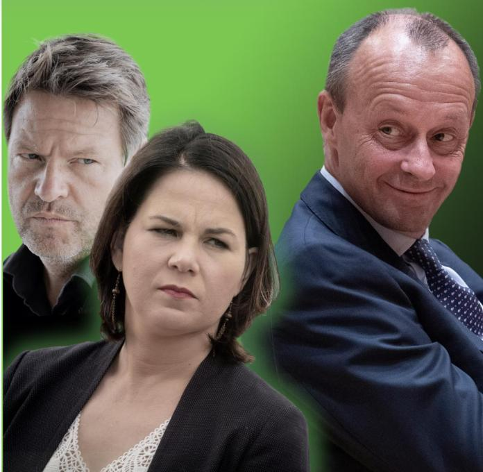Should Merz make the race as CDU chairman, the Greens might face a dilemma