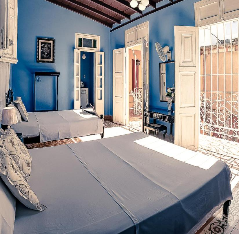 Private accommodation in Cuba: No two rooms are alike when it comes to Cuba Vida.  The photo shows Casa Bianca in Trinidad