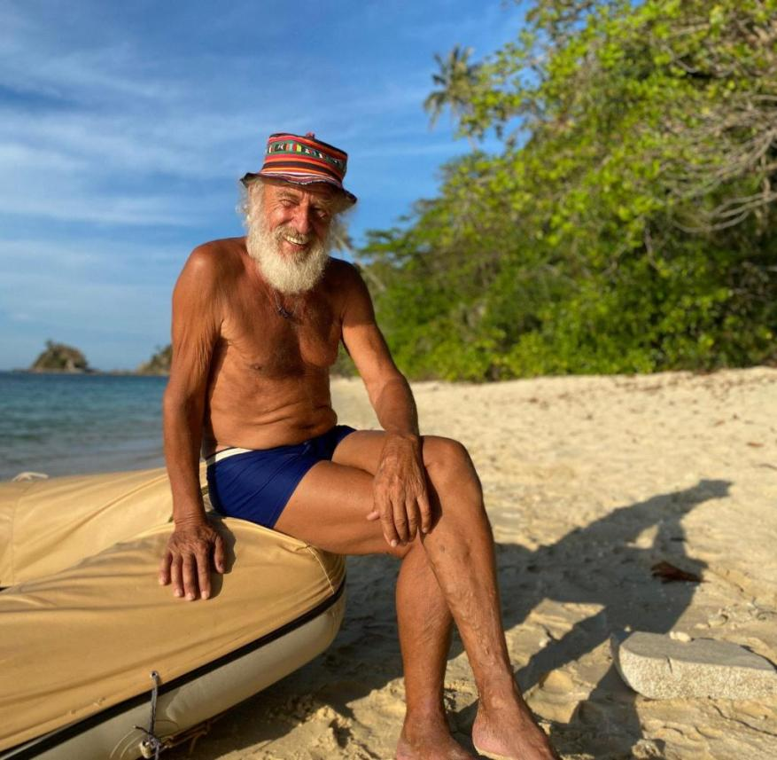 If the world traveler Wolfgang Clemens weren't traveling with a crew, he would have holed up somewhere on a lonely island