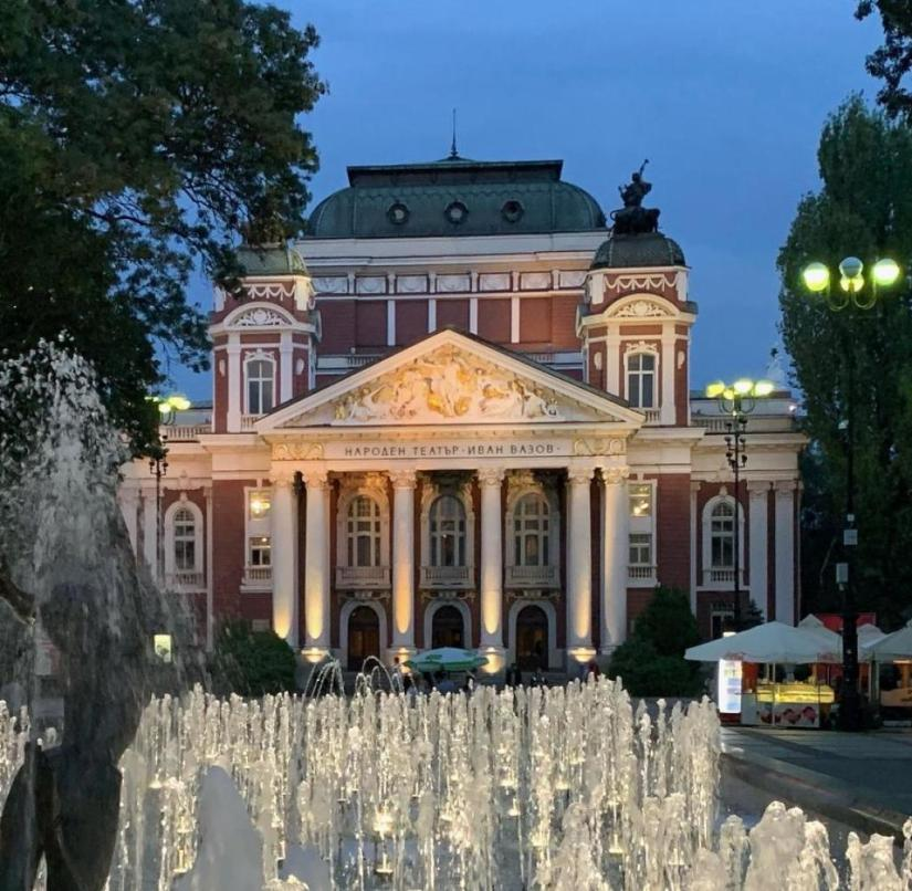 Water games and culture: Bulgaria's capital Sofia has dressed up around the Ivan Vazov national theater