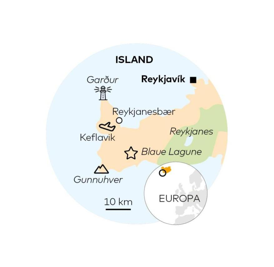 The Reykjanes Peninsula in Iceland