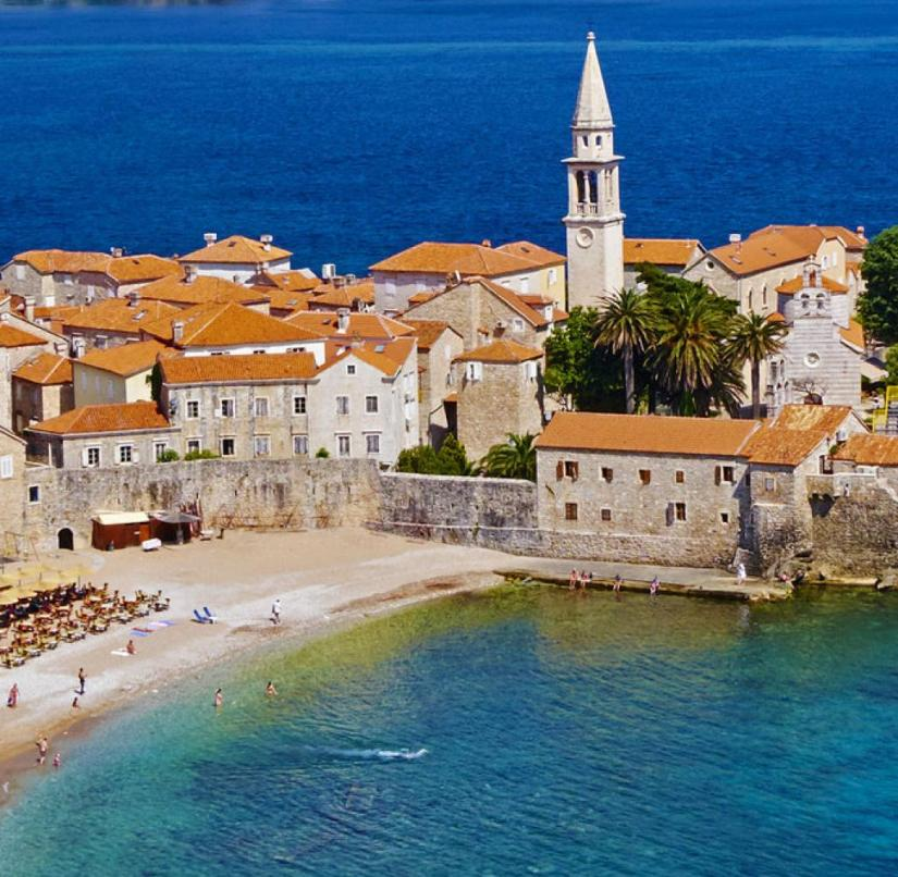 Montenegro: Budva on the Adriatic has a beach and a beautiful old town