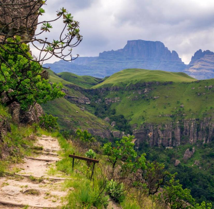 South Africa: 260 kilometers of signposted trekking trails are available to hikers in the Dragon Mountains