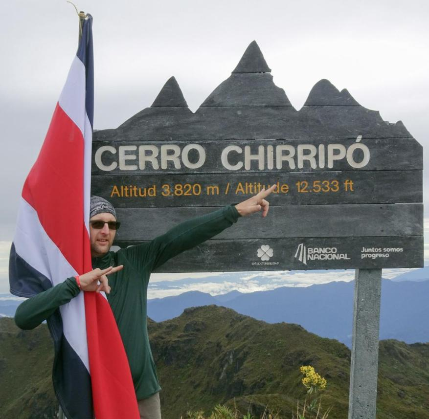 Mark Hegedüs has been traveling in Latin America since 2014.  Here he is looking forward to the highest mountain in Costa Rica, the Cerro Chirripó