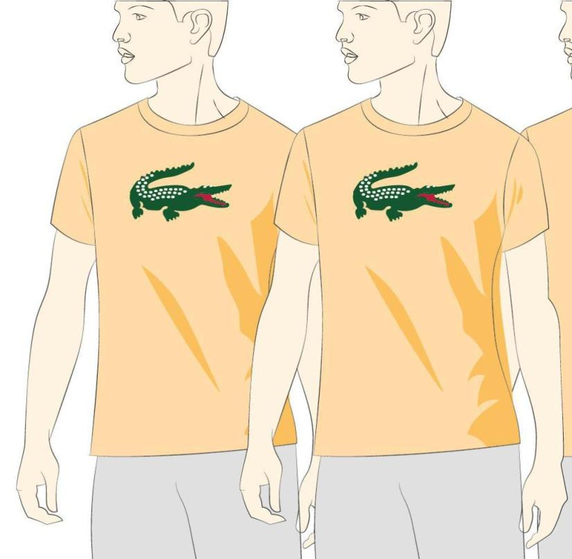Made in Champage: Lacoste-Shirts