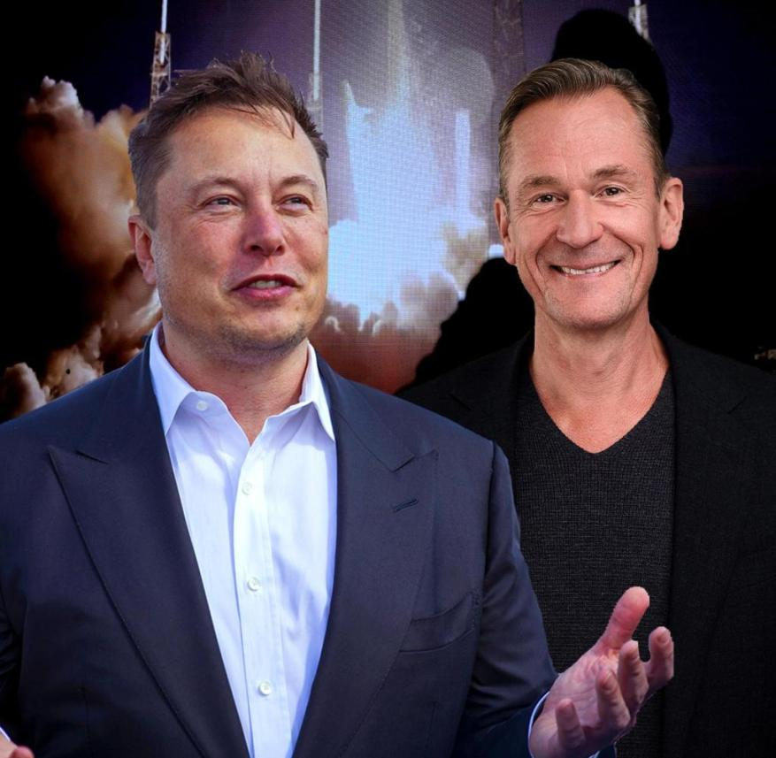 Met in Berlin: Tesla boss Elon Musk and Axel Springer CEO Mathias Döpfner (r.)