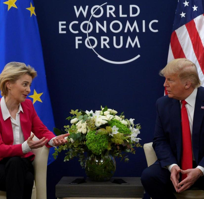 Still-US President Donald Trump and EU Commission President Ursula von der Leyen: Farewell from office with punitive tariffs against the EU