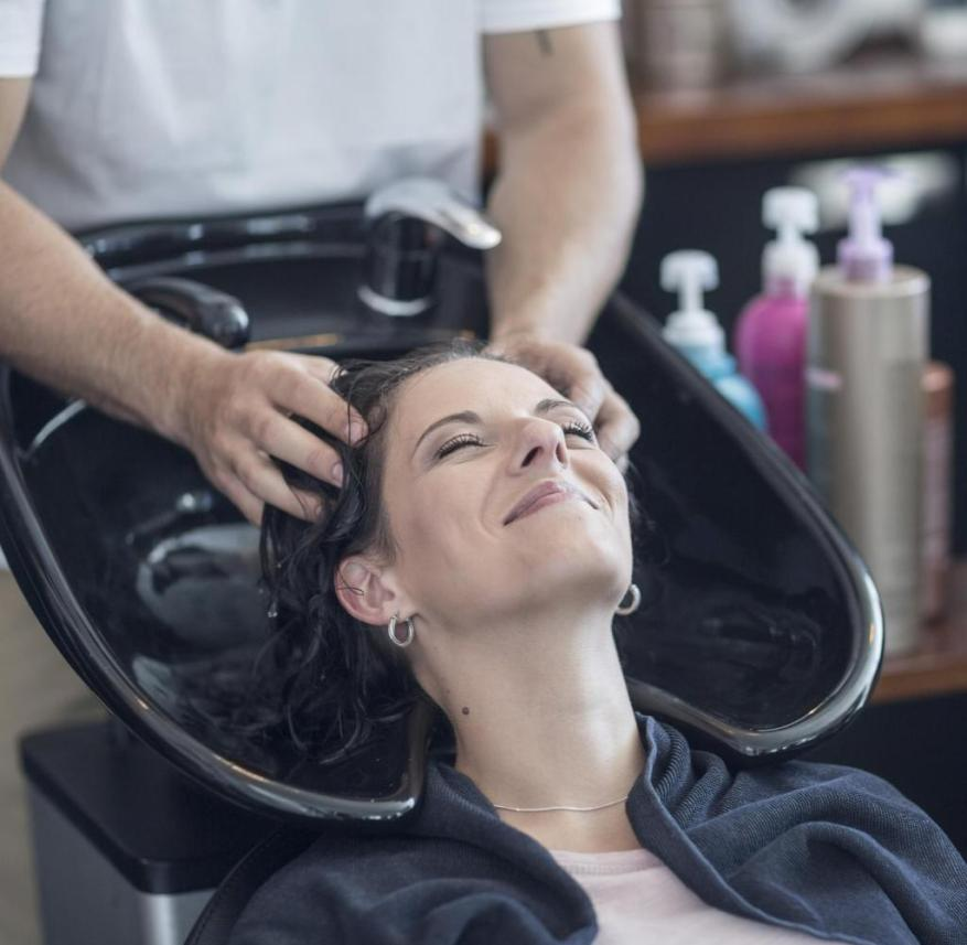 So far, this is how hairdressers wash their customers' hair.  In the future, the tint and fragrance could be individualized.  A personal shampoo is mixed with this
