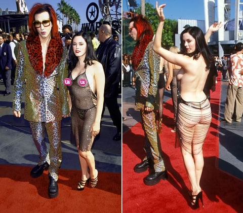 Rose McGowan Controversial Celebrity Dresses Us Weekly