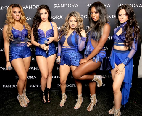 Dinah Jane Hansen, Lauren Jauregui, Ally Brooke, Normani Kordei and Camila Cabello of Fifth Harmony attend PANDORA SUMMER CRUSH 2015 at L.A. LIVE on August 15, 2015 in Los Angeles, California.
