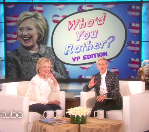 Hillary Clinton and Ellen DeGeneres