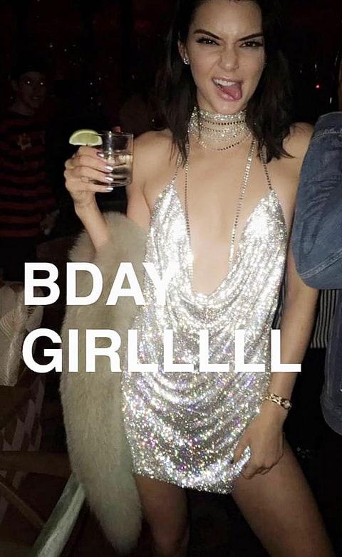 Kendall Jenner birthday snapchat