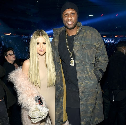 Khloe Kardashian and Lamar Odom attend Kanye West Yeezy Season 3 on February 11, 2016 in New York City.