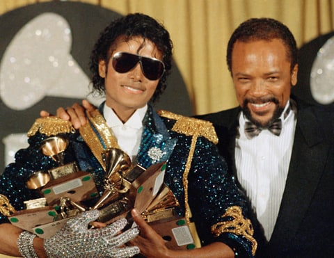 michael jackson thriller bad grammy awards quincy jones