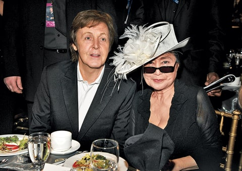 Paul McCartney with Yoko Ono
