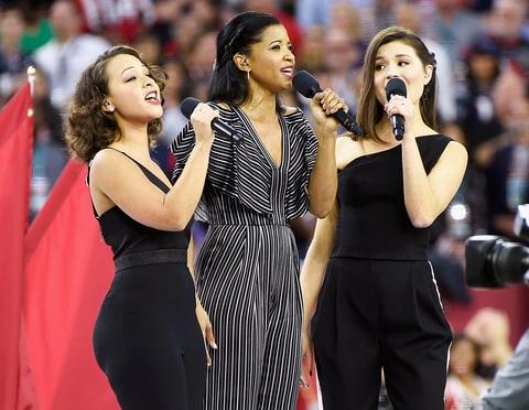 Phillipa Soo, Renee Elise Goldsberry Jasmine Cephas Jones Hamilton Super Bowl
