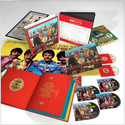 the beatles, sgt pepper's lonely hearts club band, sgt pepper's 50th anniversary, sgt pepper's reissue, the beatles, the beatles sgt pepper's box set, sgt pepper's reissue box set