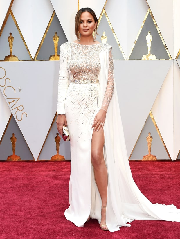Image result for oscars fashion 2017 chrissy