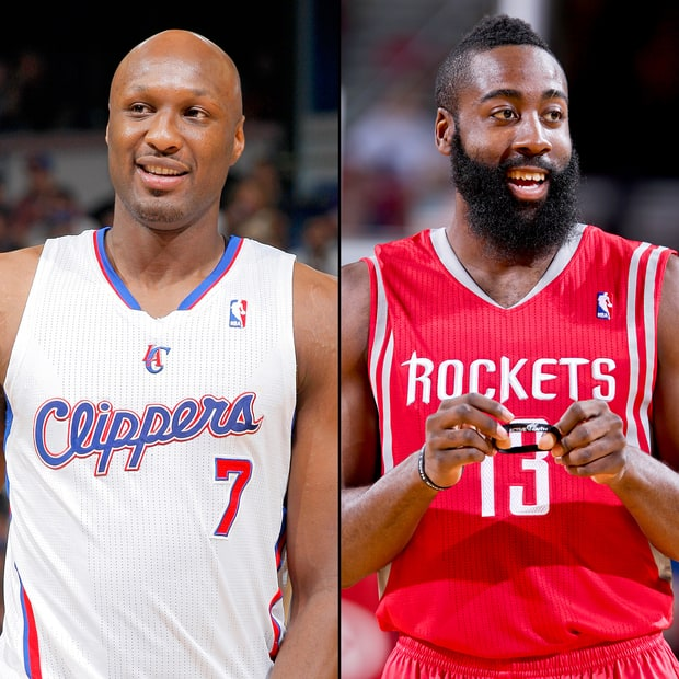 Lamar Odom and James Harden