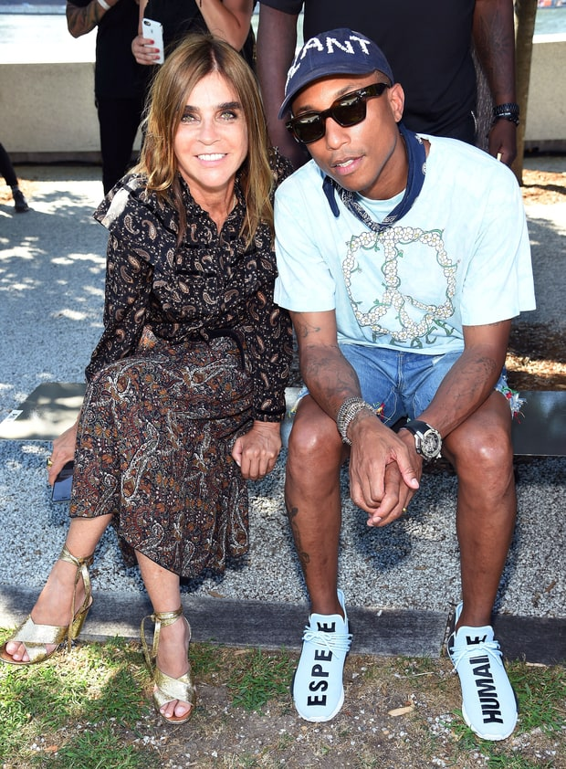 Carine Roitfeld and Pharrell Williams
