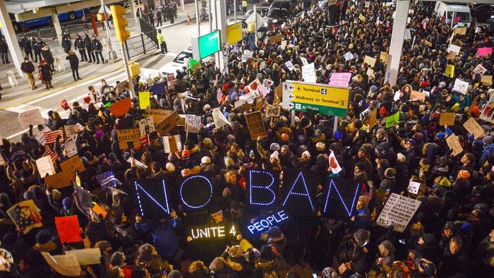 Image result for muslim ban protest