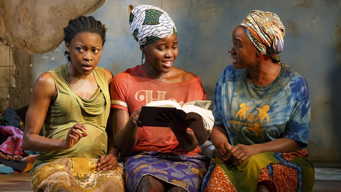 Pascale Armand, Lupita Nyong'o and Saycon Sengbloh in 'Eclipsed'. Photo: Joan Marcus
