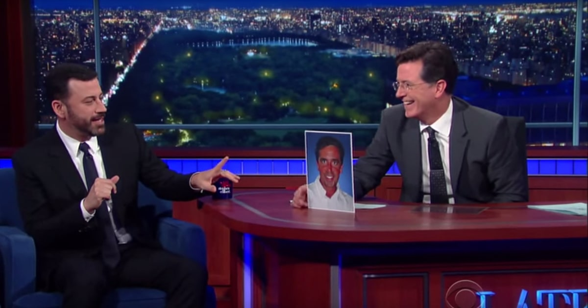 Stephen Colbert Jimmy Kimmel Discuss Real King Of Late