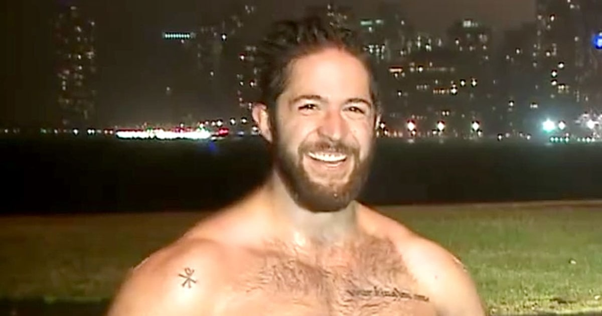 Shirtless Hot Jogger Ethan Renoe Crashes Weather Report