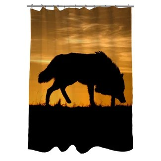 Wolf Silhouette Shower Curtain from Wayfair!