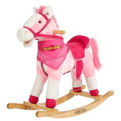 Pink Holly singing talking Rocking Horse