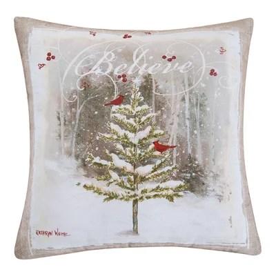 Kerstetter Believe Tree Throw Pillow