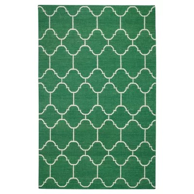 Serpentine Emerald Area Rug Rug Size: 7' x 9'