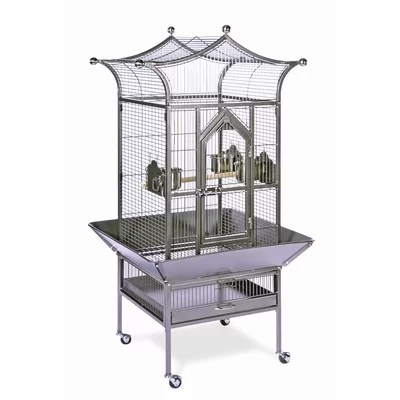 Signature Series Royalty Small Bird Cage Color: White