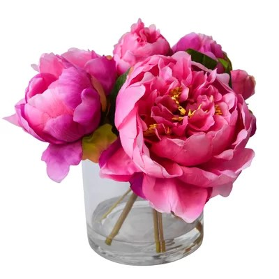 Fresh Cut Faux Peony Color: Pink