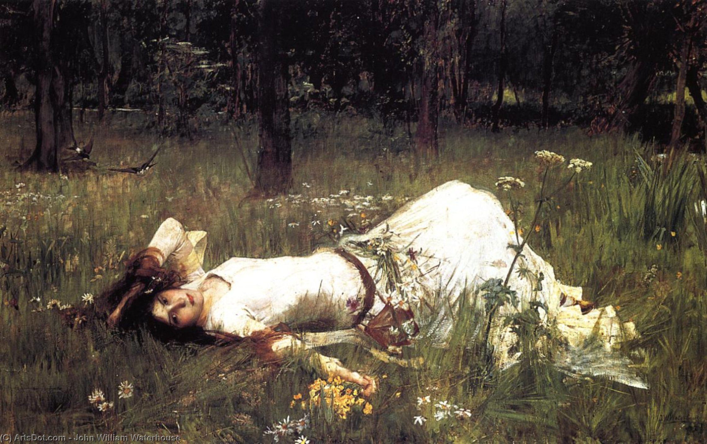 Image result for john william waterhouse ophelia 1889