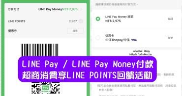 LINE Pay回饋活動∥ 在7-11.全家.OK超商.萊爾富使用LINE Pay Money 或LINE Pay付款賺LINE POINTS_2020年11月版