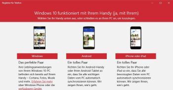Windows 10 mit Android und iOS synchronisieren