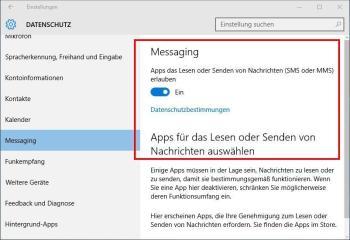 Datenschutz-Einstellungen in Windows 10 anpassen
