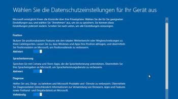 Cortana und Datenschutz-Einstellungen