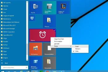 Anpassen der Kacheln und Buttons vom Startmenü für Windows 10